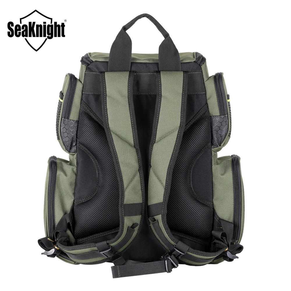 SeaKnight SK004 Рыболовная Сумка Большой Ёмкость 41*44*20 см рюкзак наружная Рыболовная Снасть сумка 1000D нейлоновая Женская многофункциональная сумка на плечо