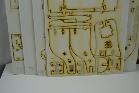 Reprap 3D printer-ROSTOCK-MAX-V2-LASER-CUT-SHEETS-ONLY-kit 6mm-thickness