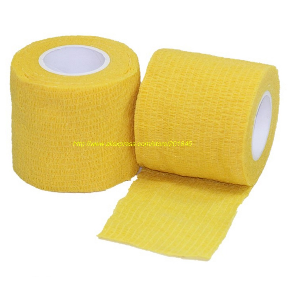 ФОТО 24pcs/Lot Self Adhesive checkerboard 5cm x 4.5m elastic Nonwoven Cohesive Bandage  Adherent Wrap sports protection