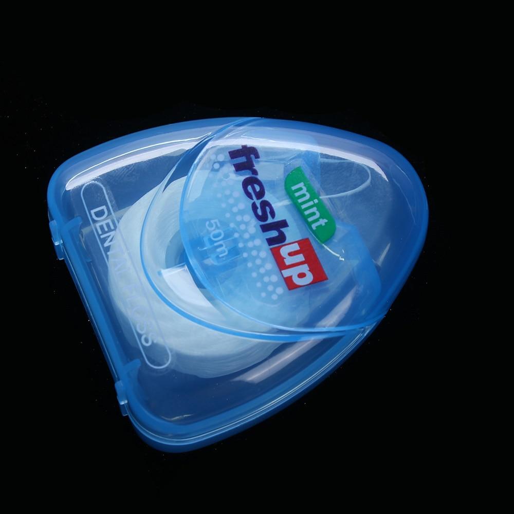 50 м микро воск мятный вкус зубная нить межзубная щетка Зубная палочка зуб палочка s зуб палочка для гигиены полости рта чистая проволока