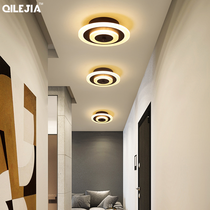 New Acrylic round lamp chandeliers For Living Room Bedroom Home AC85 265V Modern Led Ceiling Chandelier