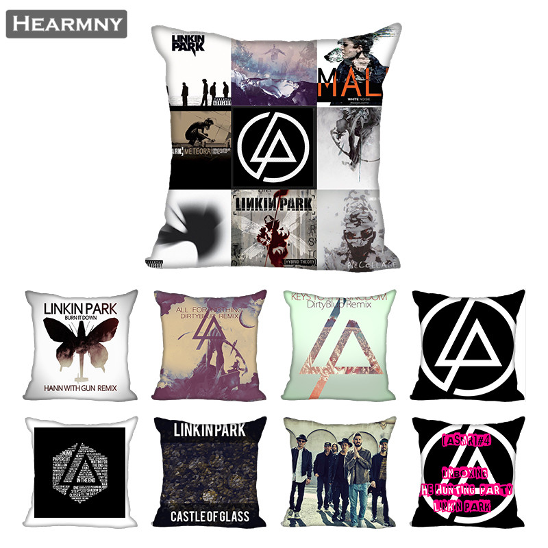Linkin Park Pillow Case For Home Decorative Pillows Cover Invisible Zippered Throw PillowCases 40X40,45X45cm