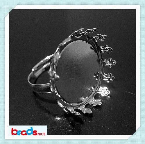 Beadsnice уникальный латунь ювелирные изделия из Безопасной никель бесплатно кольца ручной работы с императорская корона цоколь id21715