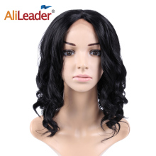 Alileader Lace Front Wigs 16 Inch Long Body Wave Dark Root Synthetic Wigs For Black Women 3 Colors Black Brown Hair Wig недорого