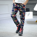 2016 New Spring&Autumn Fashion Children Kids boys camouflage trousers Kids boys harem pants big boys casual pants