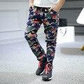 2016 nova primavera e outono de moda crianças crianças meninos camuflagem calças infantis meninos harem pants meninos grandes calça casual