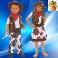 Envío gratuito de Halloween / navidad / niños ropa / cosplay anual / pascua / de los muchachos de vaquero y girlsme Pretty