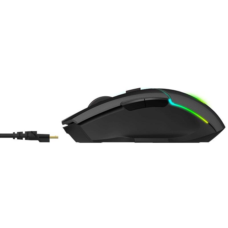 Rapoo double modèle souris de jeu sans fil 5000 DPI 7 boutons PUBG souris d'ordinateur souris pour FPS PC ordinateur portable Gamer - 4