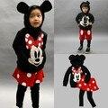 Ems / DHL liberan el envío gratis 2015 NEWSpring otoño muchacha de los niños Boy Cartoon Minnie Mickey 2 unidades conjunto
