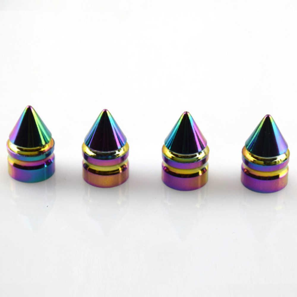 4 piezas luces de neón de Metal de Color de ruedas válvula tapas de diseño de bala auto camión para Citroen C5 C4 Xsara Picasso berlingo Elysee