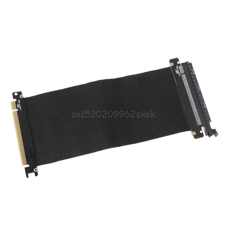 PCI Express 3.0 High Speed 16X Flexible Cable Extension Port Adapter Riser Card PC Graphics Cards Connector Cable 24cm D23