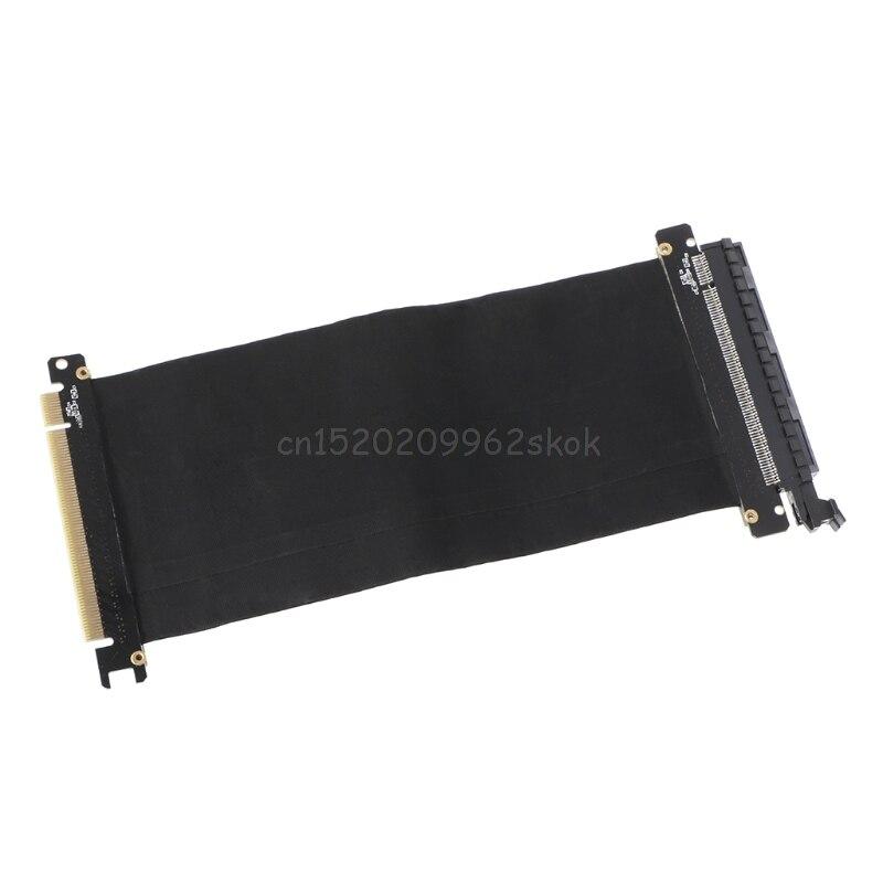 PCI Express 3,0 de alta velocidad 16X Flexible de extensión de Cable de adaptador de puerto de tarjeta vertical PC tarjetas gráficas conector de Cable 24 cm D23