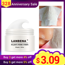 2018 New Style LANBENA Blackhead Remover Nose Mask Pore Strip Black Mask Peeling Acne Treatment Black Deep Cleansing Skin Care(China)