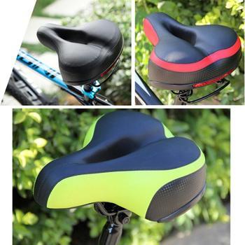 Zagęścić rowerowe siodełko rowerowe poduszka miękka oddychająca krzemionka poduszka żelowa silikonowe siodełko rowerowe MTB z odblaskowe naklejki tanie i dobre opinie ROBESBON Inne Skóra Rowery drogowe