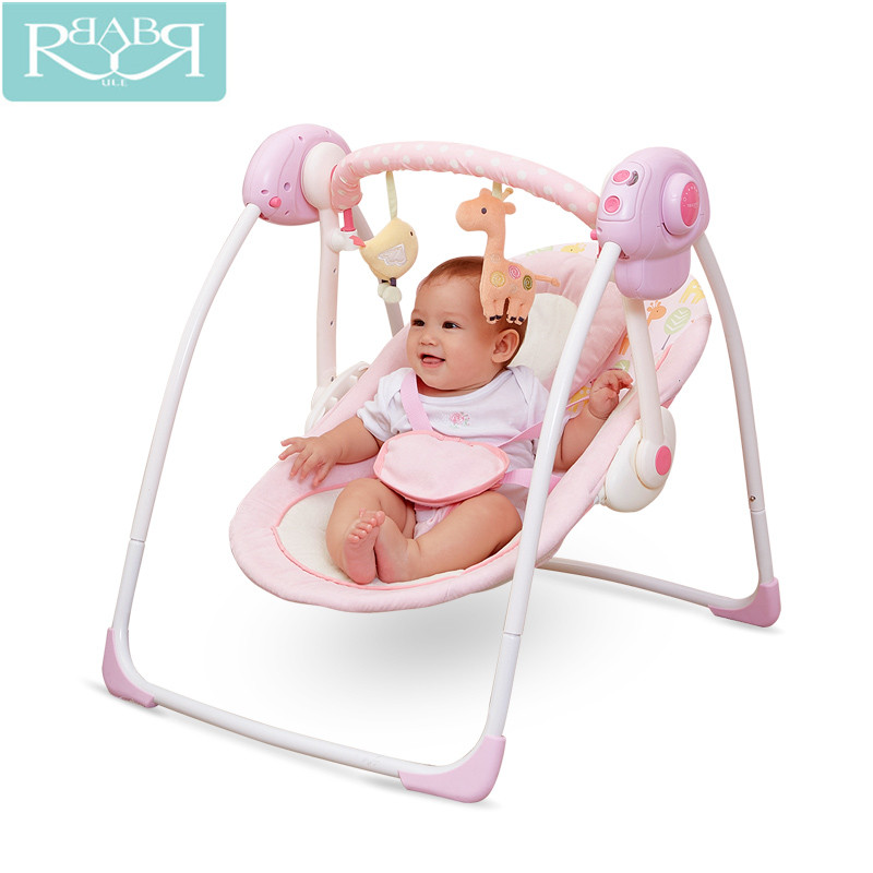 Babyruler Electric Baby Swing Chair Bouncer Music Rocking For Baby Bebek Salincak Newborn Baby Sleeping Basket Kids Hammock baby rocker newborn baby swing portable carrier rocking chair baby bouncer toddler sleeping seat rocking swing chair cradle