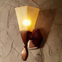 Lámpara de pared de caoba Artificial grande Retro de 1 2 uds para sala de estar lámpara de pared de cristal de Estilo vintage americano lámpara de pared Led|wall lamp light|wall sconce|wall sconce led -