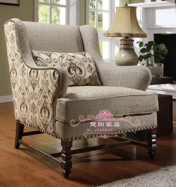 New Classic Wood Armchair Chair American Casual Tiger Print Chair Leisure  Chairs Reception Chairs Continental Customization