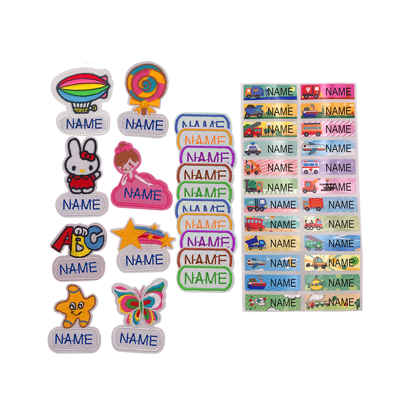 Adaptable Diy Baby Bibs Accessories Personalized Names Stickers Sewn Or Ironed Newborn Feeding Bib Cloth Embroidery Bcx01 Boys' Baby Clothing Accessories