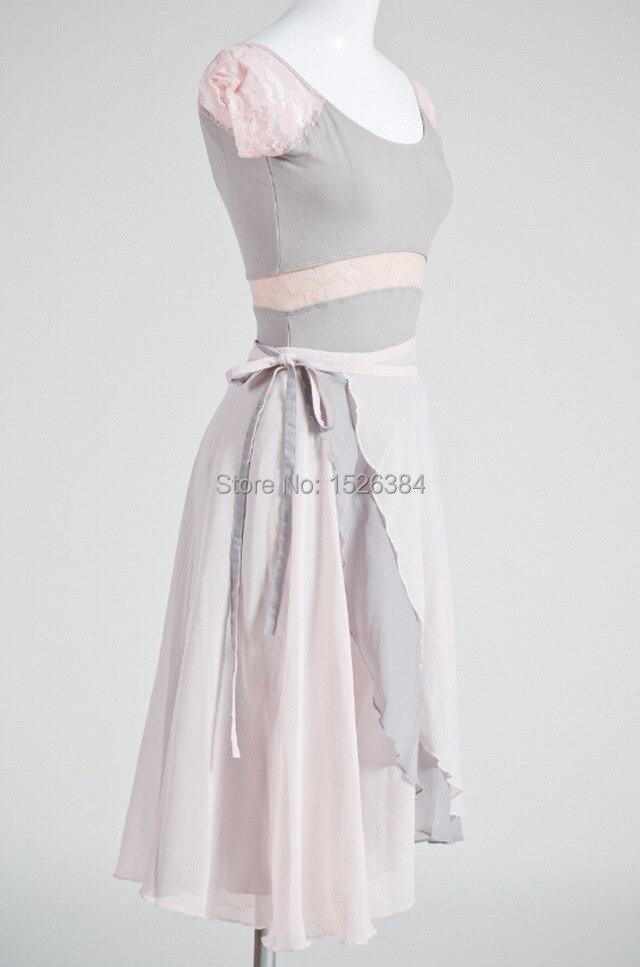 Gratis frakt Kvinnor Chiffong Dubbellag i olika färger Lace Up Dans Ballettkjol Tvåvägs Tillgänglig Skate Wrap Scarf SK2