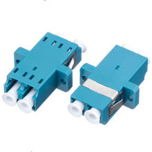 цена на 50pcs/lot LC-LC Fiber Optic adaptor FTTH DX SM Duplex LC UPC Flange Connector,FTTH Fiber Optic Fast Adapter