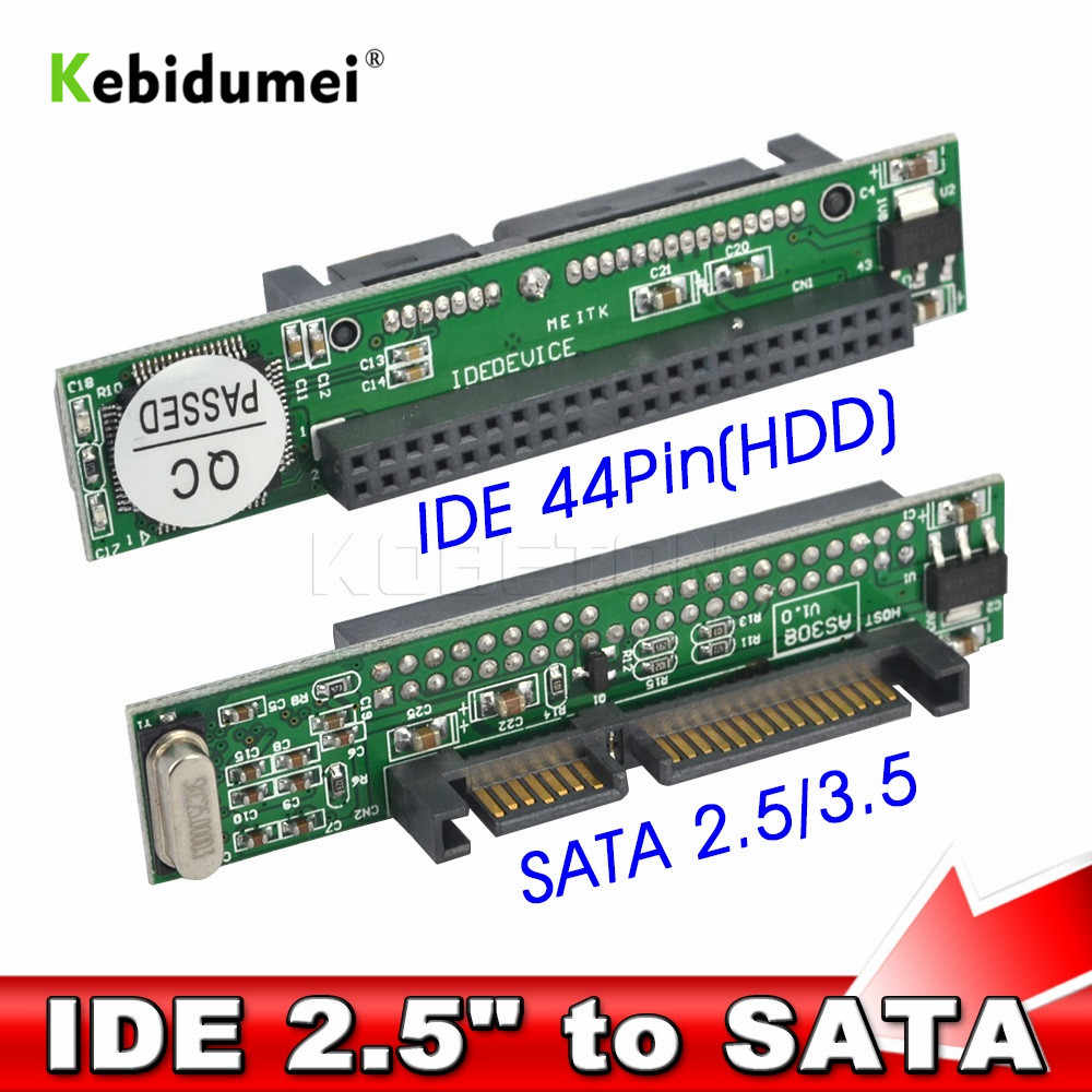 "Kebidumei IDE 44 פין 2.5 ""כדי SATA מחשב מתאם ממיר 1.5Gbs סידורי מתאם ממיר ATA 133 100 HDD CD DVD דיסק קשיח סידורי"