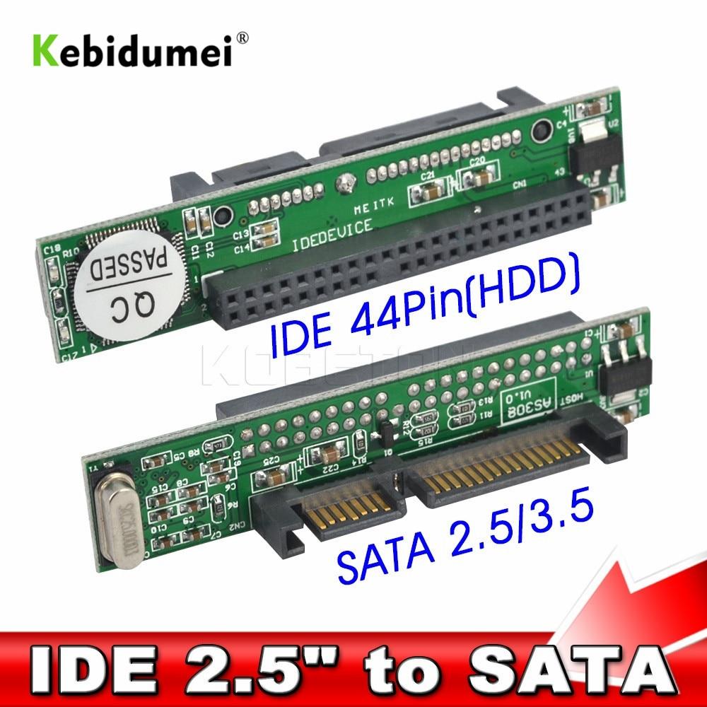 Kebidu 1.5Gb/s 44 Pin SATA 2.5 Female to IDE 2.5 Male HDD
