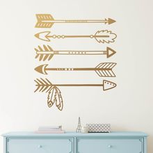 Kids Room Decor Tribal Arrows Wall Decal Nursery Mural Vinyl Arrow Pattern Sticker Design AY1267