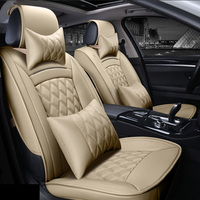 3D Sports Car Seat Cover Cushion High Grade Leather Car Accessories Car Styling For BMW Audi