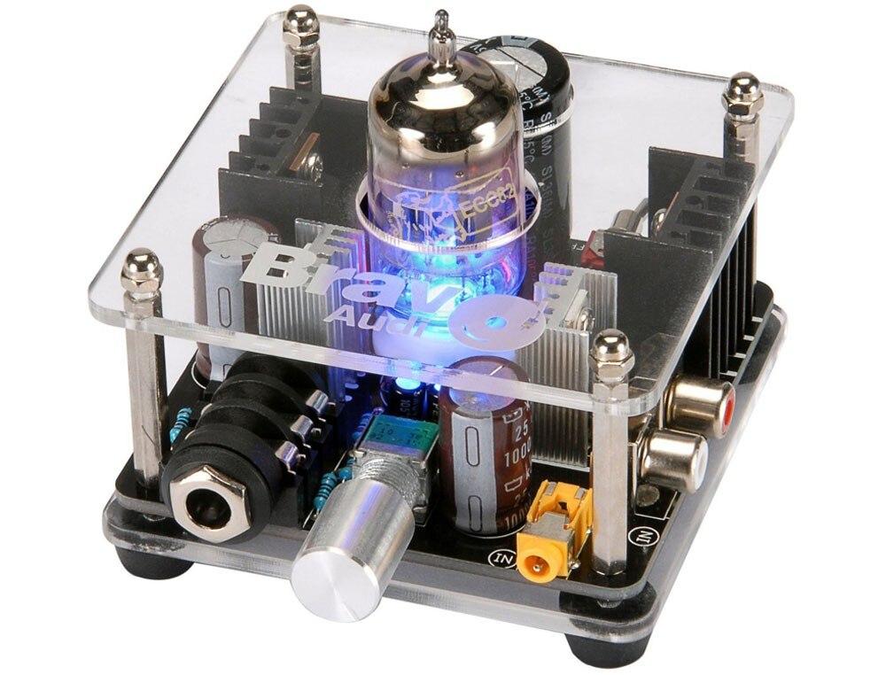 Браво аудио V2 + обновления класс Золотой Лев ECC82 трубку мульти-Гибридный Усилители для наушников