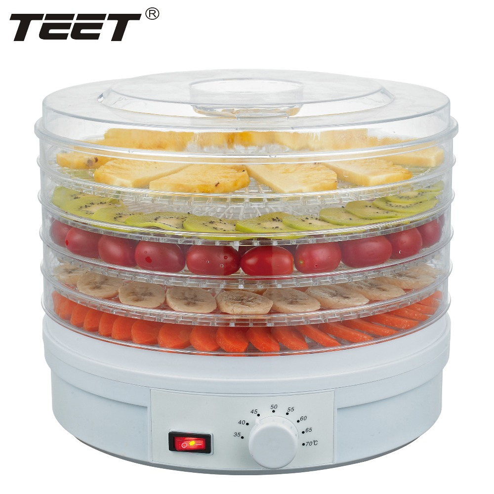 Teet Brand 32cm Electric Household Five Trays Fruit Food DehydratorTeet Brand 32cm Electric Household Five Trays Fruit Food Dehydrator