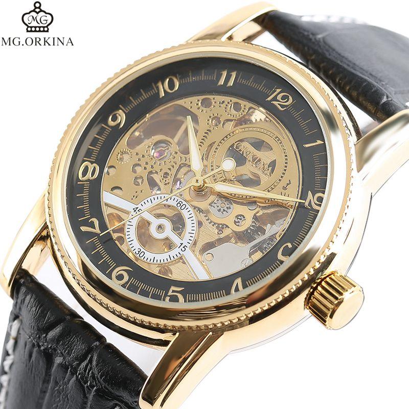 MG ORKINA Top Brand Mechanical Watches Automatic Wrist Watch Men s Sport Casual Analog Luxury Clock