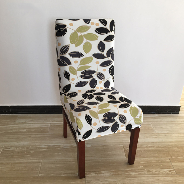 1 piece spandex housses de chaise salle a manger universel floral ptinted elastique couverture de chaise