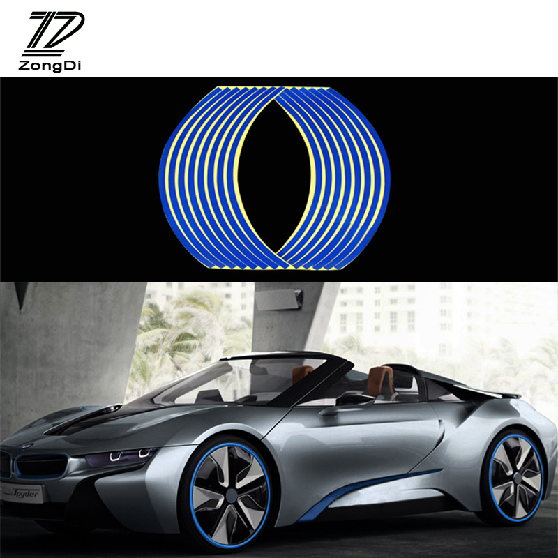 ZD 16pcs Car Wheel Stickers Decals 14