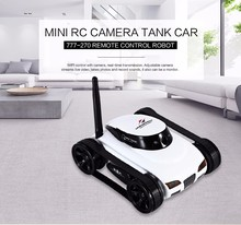 HappyCow 777-270 WiFi Mini RC Camera Tank Car ISpy with Video 0.3MP Camera Remote Control Robot Car By Iphone Android App 2017 new cloud companian wifi rc spy monitoring car robot tank ip camera mobile app remote control