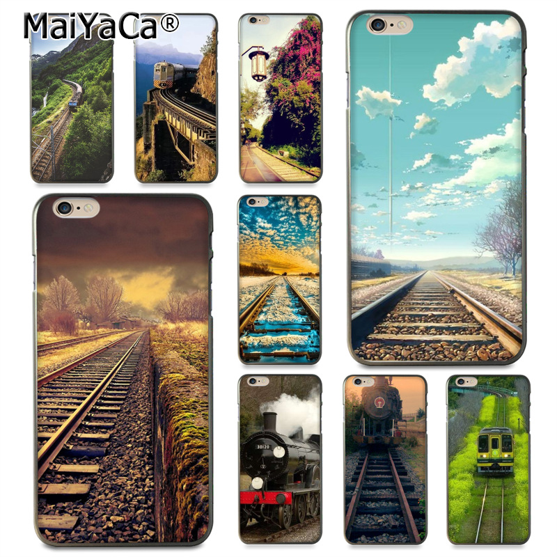 MaiYaCa The railway Special Offer Luxury phone case for Apple iPhone 8 7 6 6S Plus X 5 5S SE 5C Cellphones