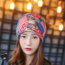 Fashion Women's Headwear Gorgeous Cool Bandanas USA Travel Party Hair Accessories Gum Bandage Headbands for Pretty Women