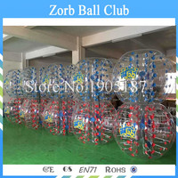 Free Shipping 1.5m Dia 26 PCS(13 Red+13Blue+2 pumps )1.0mm TPU Human Bubble Balls,Zorb Ball ,Bumper balls On Sale