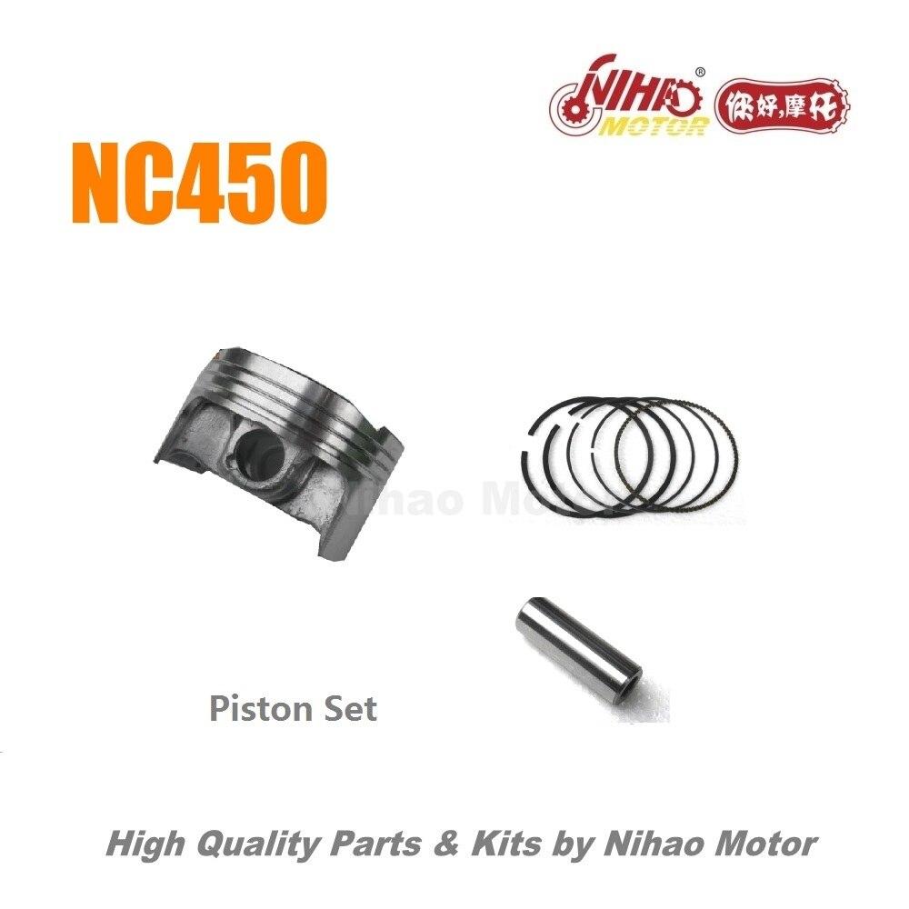 100A NC450 Pièces Piston Ensemble (anneau pin clip) ZONGSHEN Moteur NC ZS194MQ (Nihao Moteur) KAYO Asiawing Xmoto