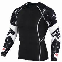 Pánské kompresní fitness tričko s 3D potiskem