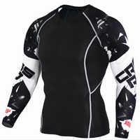 Mens Compression Shirts 3D Teen Wolf Trikots Langarm T Shirt Fitness Männer Lycra MMA Training T-Shirts Strumpfhosen Marke Kleidung