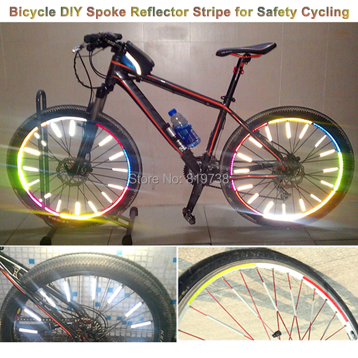 , 1 MTB Bike Bicycle DIY Spoke Reflector Stripe, Lights Riding Safety Night - Ce-Village Tech Co.,LTD store
