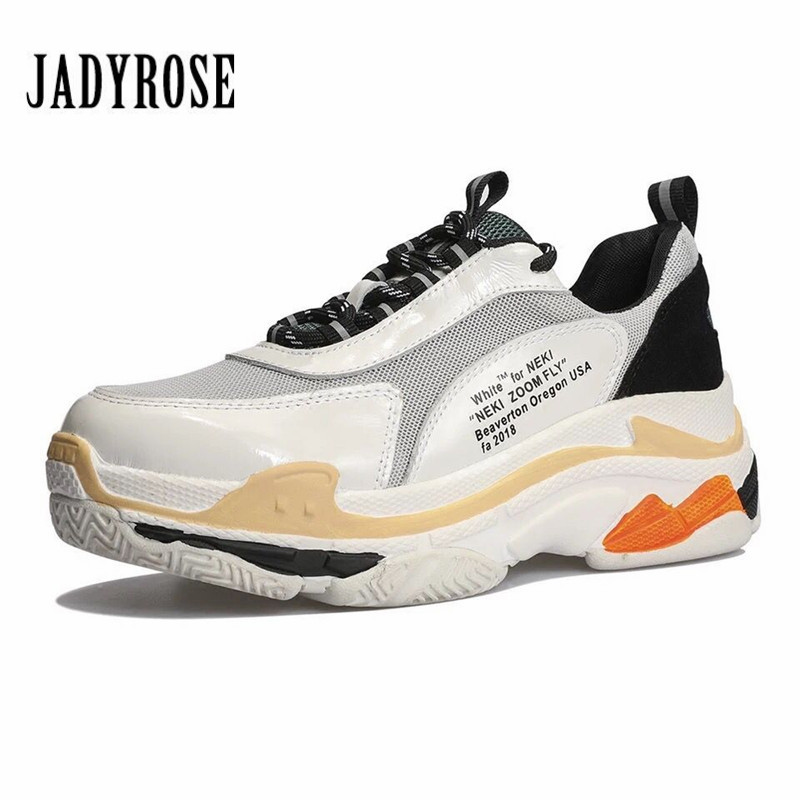 Jady Rose Women Sneakers Platform Creepers Female Lace Up Casual Flats Mixed Color Espadrilles Sapato Feminino Tenis Feminino цена