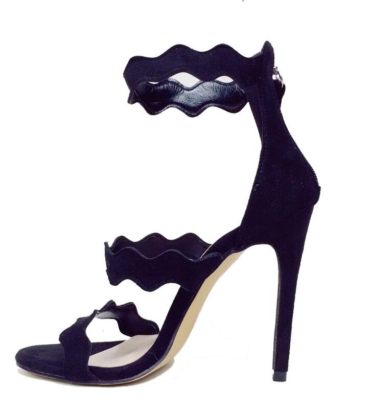 Zapatos Tacón De Para Nueva Sandalias Street Casuales Cremallera Black  Cielo Alto Moda Fiesta Damas Dedo Vestido gold Mujeres ... eee7870373e9