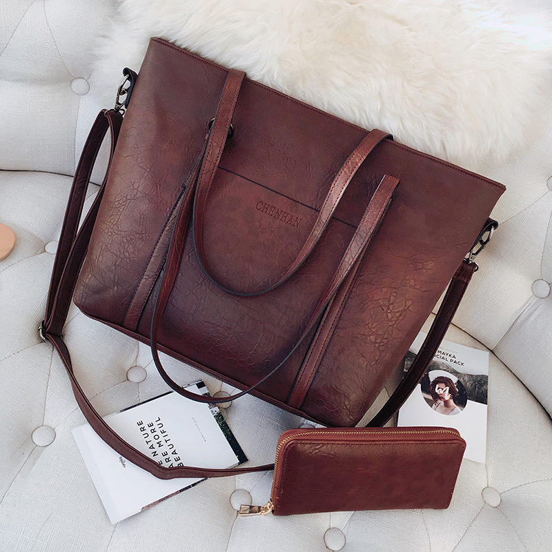 Women Bags Large-Capacity Famous-Designers Shoulder with Wallet Sac Bolsos