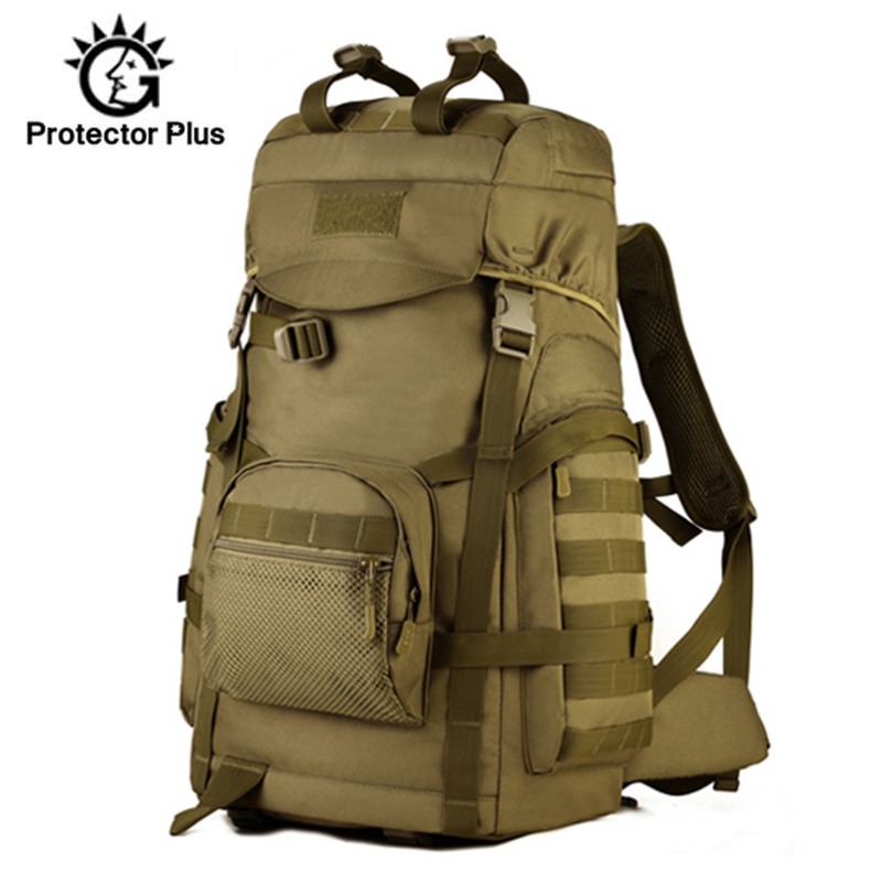 60L 3D Nylon Sport de plein air militaire tactique escalade alpinisme sac à dos Camping randonnée Trekking sac à dos voyage XA922WD