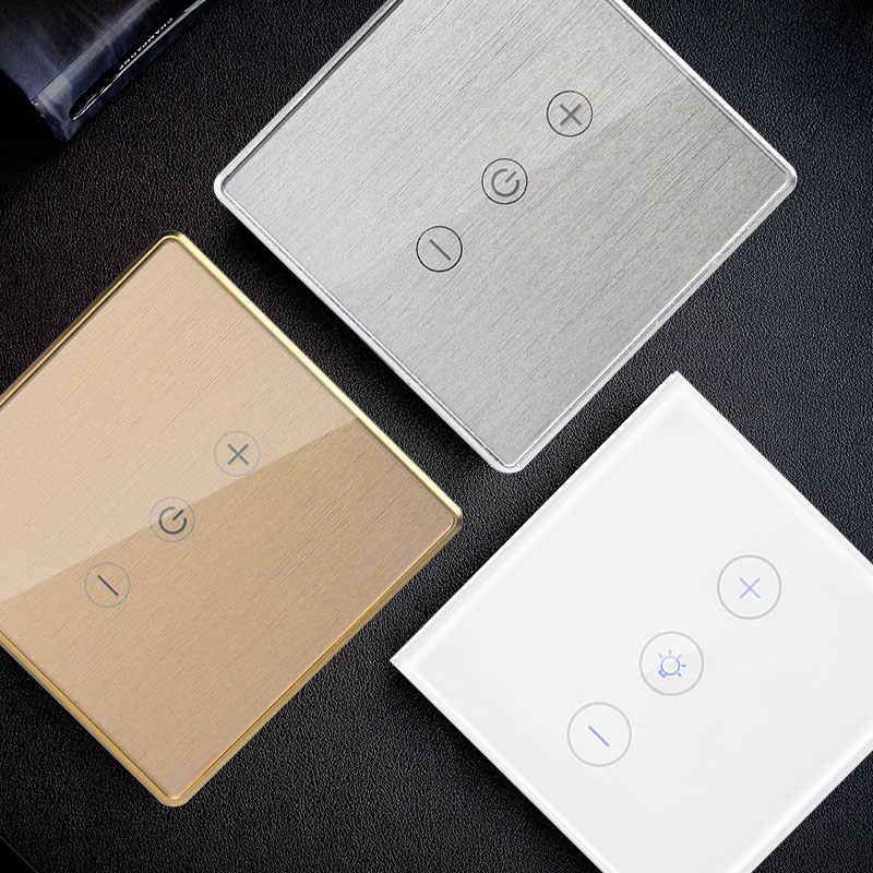 Emas/Perak LED Dimmer Smart WIFI Switch Kontrol Sentuh Stepless Dimmer dengan Bohlam Kompatibel dengan Amazon Alexa Asisten Google