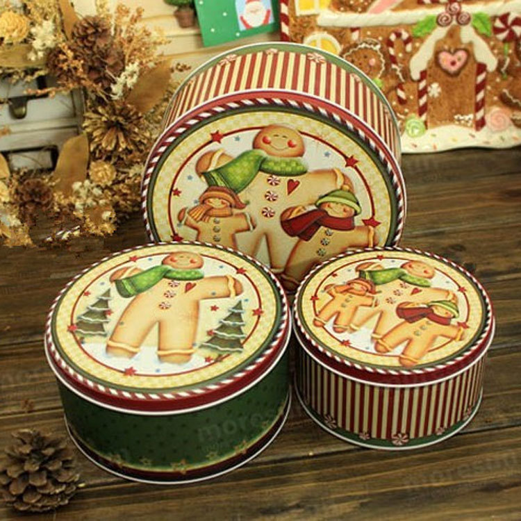 bo te biscuits bo te 3 pcs ensemble ours de stockage tin box zakka cadeau de no l en m tal. Black Bedroom Furniture Sets. Home Design Ideas