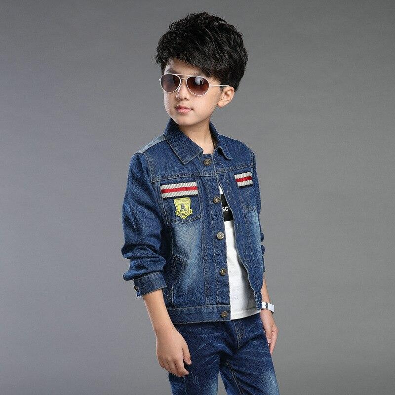 e1ea5c501 Children Clothes Big Boys Spring Autumn Denim Coat Cool Fashion ...