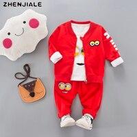 Children Clothing Minions Cartoon Kids Suit Printing Coat Costume Warm Cotton Shirts Pants Tracksuit 3 Pieces