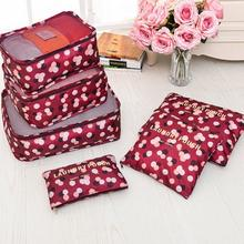 6pcs/set Travel Storage Bag For Clothes Tidy Organizer Pouch Suitcase Home Closet Divider container Organiser